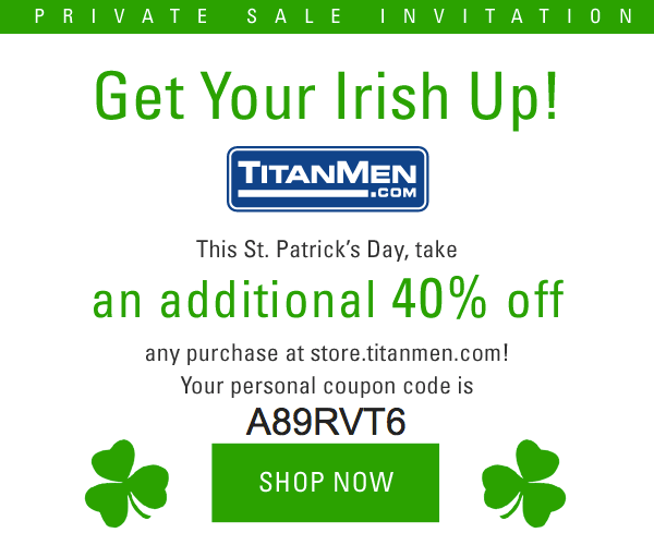 Fuck Me, I'm Irish. Titanmen DVD 40% OFF Sale….