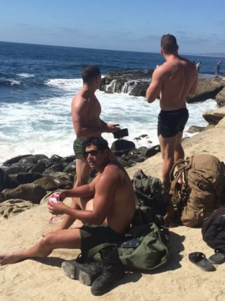 Shirtless Marines Walk To Raise Awareness for PTSD