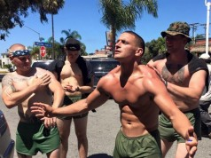 topless marines walk for ptsd