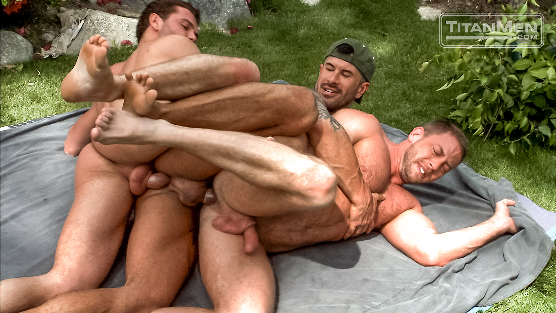 Men having orgy