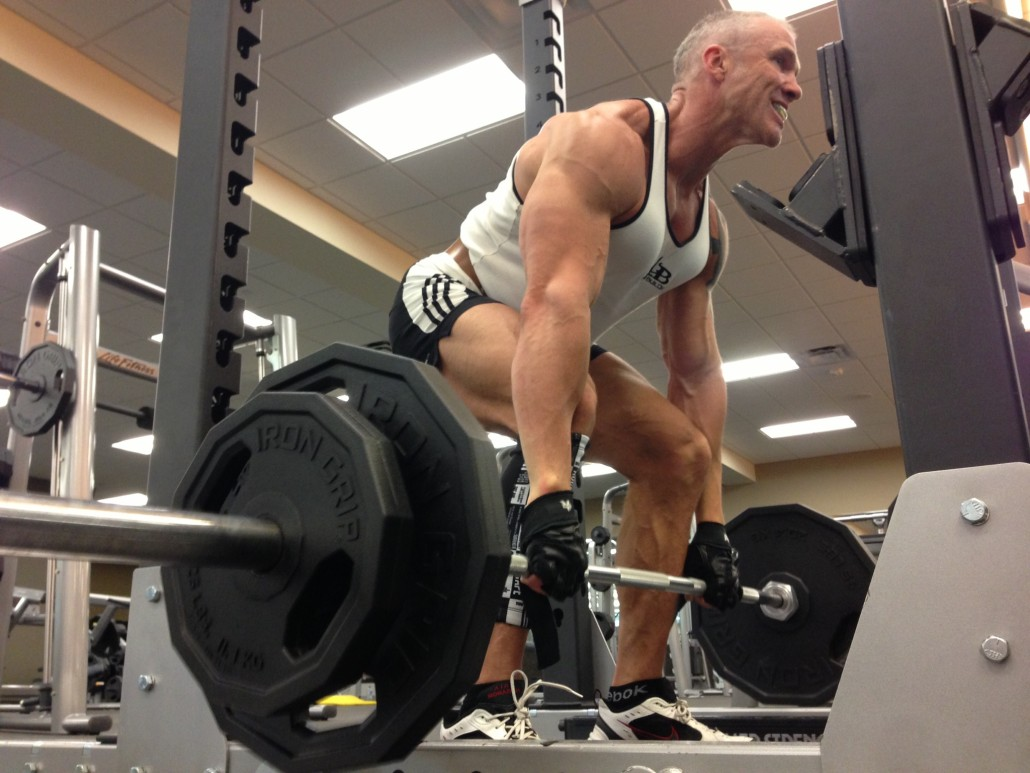 Dallas Steele Doing Squats At The Gym