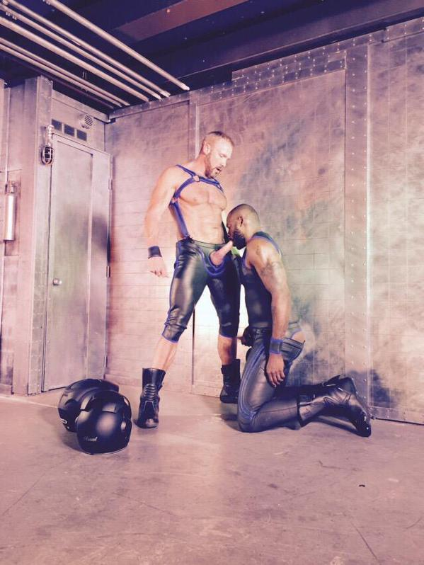 Dallas Steele and Diesel Washington On Set For TitanMen
