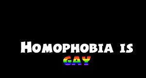 homophobia is gay